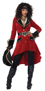 Red Women's Pirate Outfit