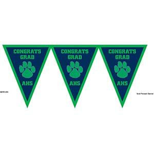 High School Logo and Colors Congrats Pennant Banner