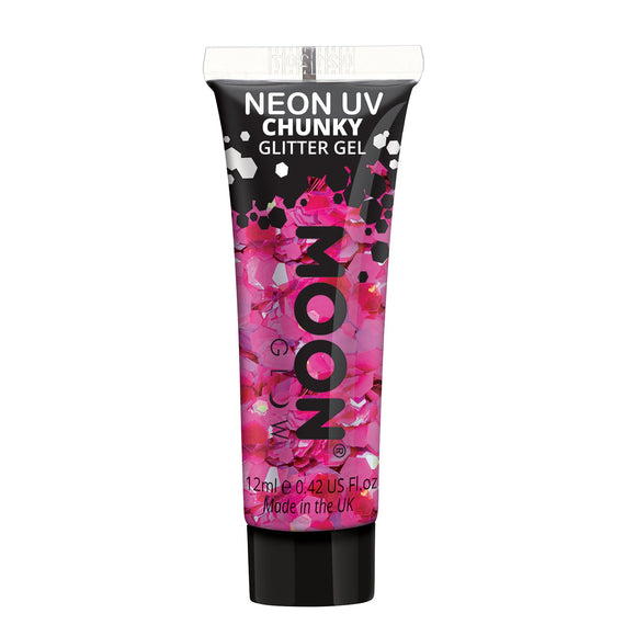 Glitter Neon UV Face & Body Chunky Gel -Moon Glow