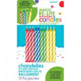 Magic Re-Light Birthday Candles 10ct