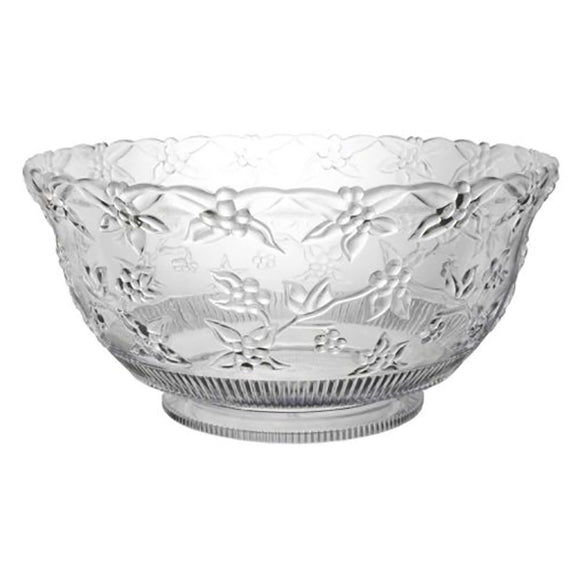 8qt. Embossed Punch Bowls - Clear