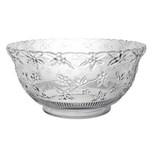 Embossed Punch Bowls - 12qt. Clear
