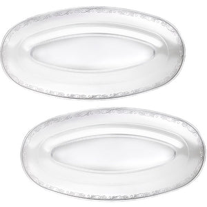 "20.75"" x 10.5"" Oval Trays - Clear (NEW avail. In APRIL)"