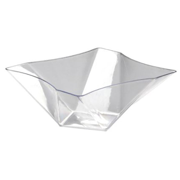81oz. Twisted Square Serving Bowls - Clear