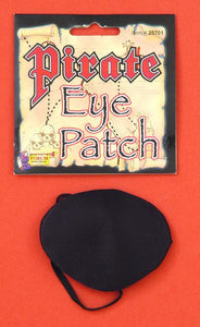 Satin stiff black eye patch