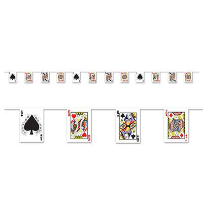 Playing Card Pennant Streamer