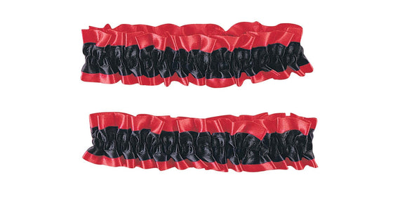 Satin covered elastic pair of armbands