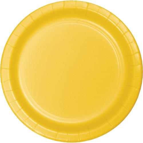 School Bus Yellow 7in Paper Plates