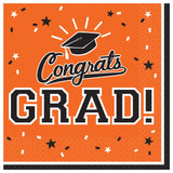 Congrats Grad | Graduation Beverage Napkins Value Pack 36ct