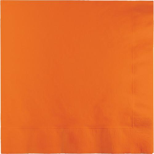 Sun Kissed Orange Luncheon Napkins