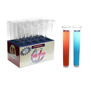 1.5oz. Tube Shots - Clear 15ct. Boxes