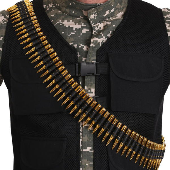 Shoulder belt with decorative bullets