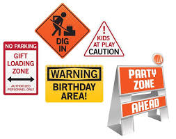 Constructions Signs Decoration Kit
