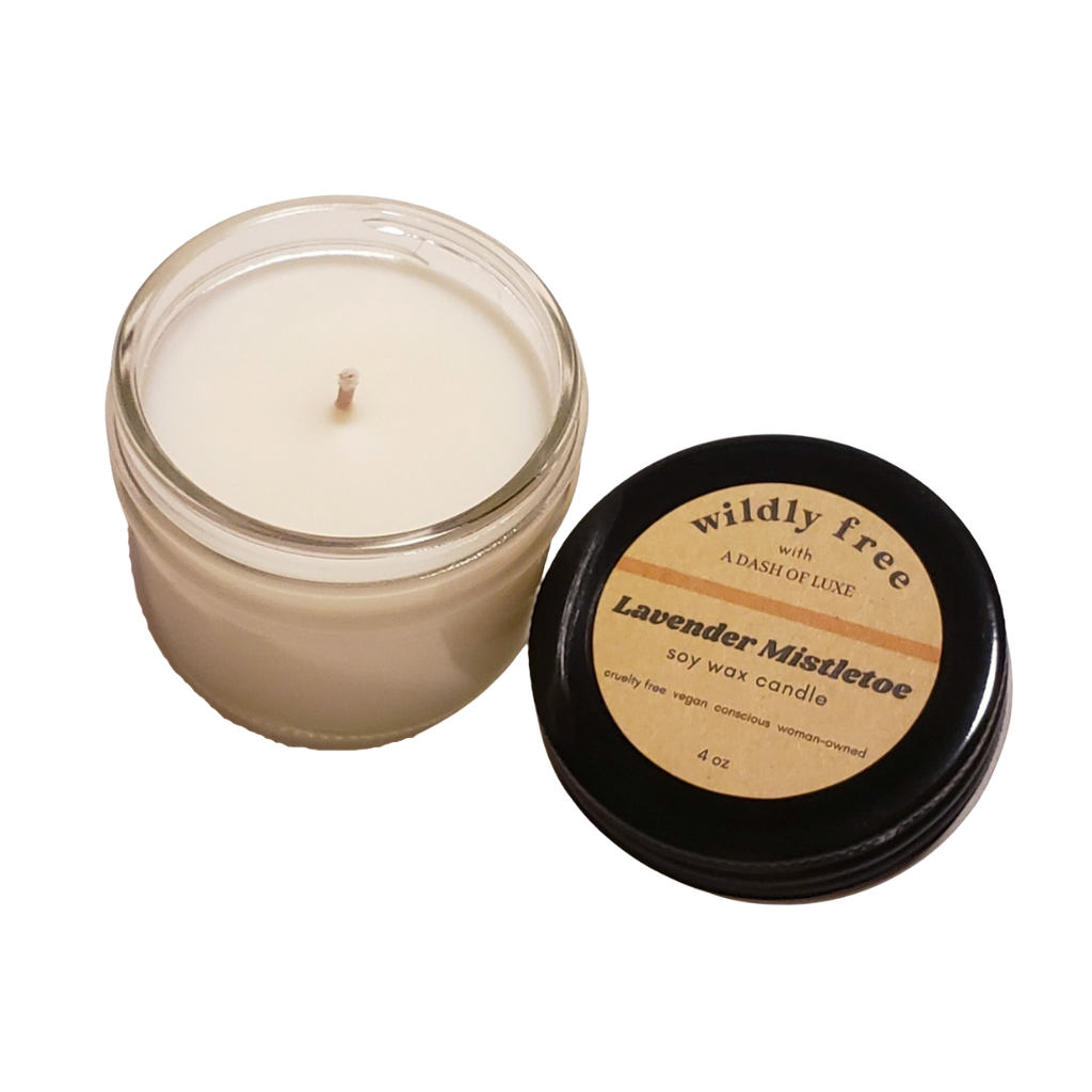 Lavender Mistletoe Meditation Candle - Wildly Free Beauty