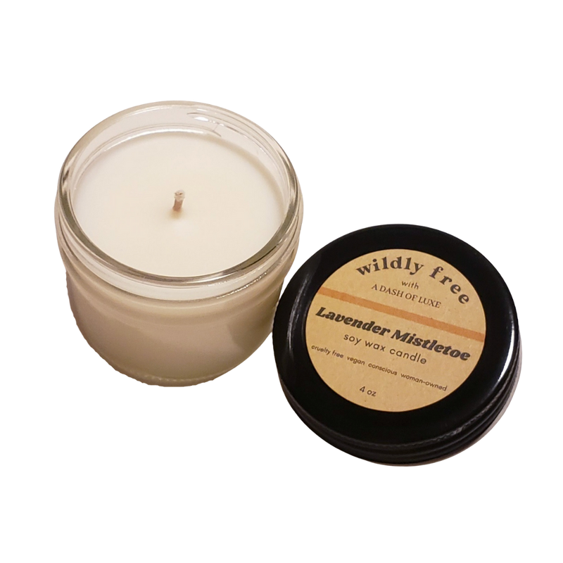 Lavender Mistletoe Meditation Candle - Wildly Free