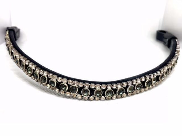 Black and White Crystal Browband