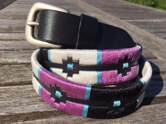 Pink and White Polo Belt