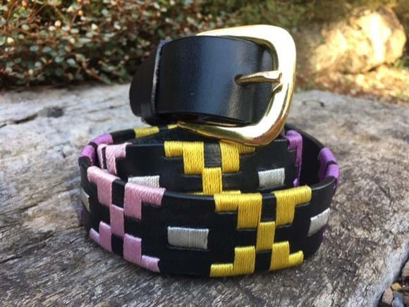 Pink and Yellow Polo Belt