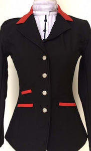 Ladies Black Soft-shell Show Jacket