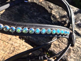Flash Crank Bridle - Blue Bling Browband