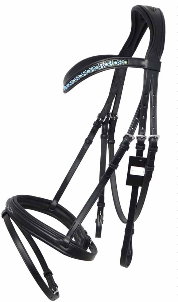 Hanoverian Bridle - Blue Bling Browband