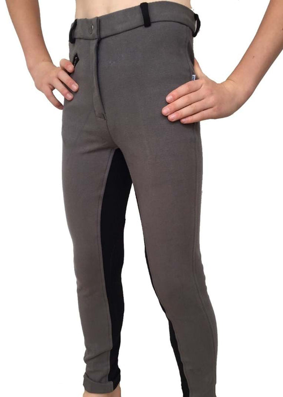 Boys Two-Tone Jodhpurs - Grey/Black