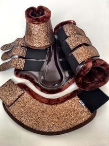 Glitter Brush Boots and Bell Boots Set