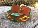 Green and Yellow Polo Belt