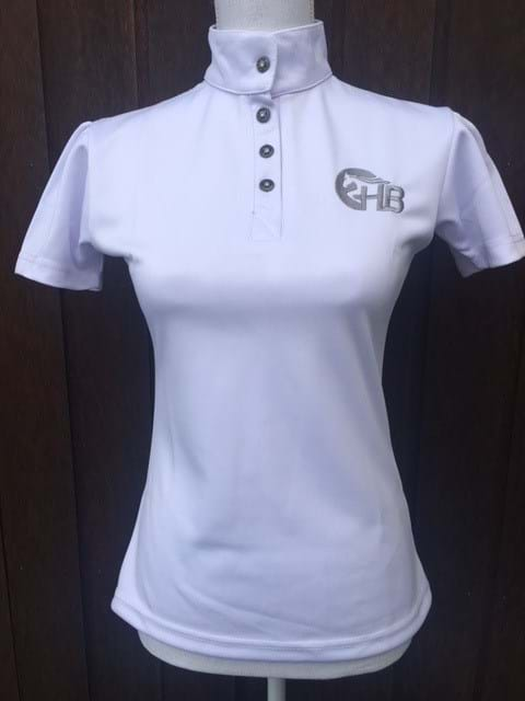 Ladies White Show Shirt - Lace Detailing