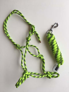 Fluoro Green Rope Halter with Lead