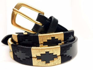 Black and Gold Polo Belt