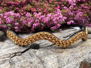 Crystal Wave Browband - Various Colours