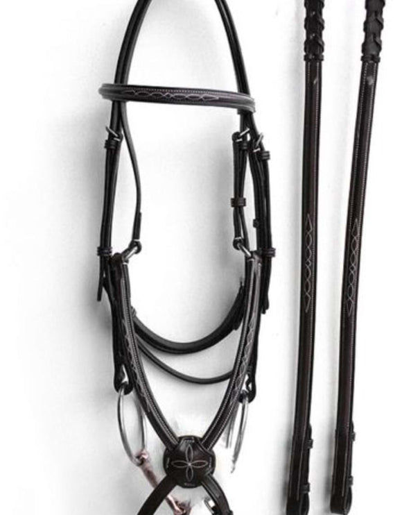 Fancy Stitch Grackle Bridle