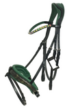 Green Crank Flash Bridle - Green Croc