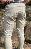 Girls (Kids) Beige Breeches Silicone Knee