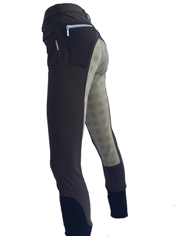 Ladies Full Seat Silicone Breeches - Spots