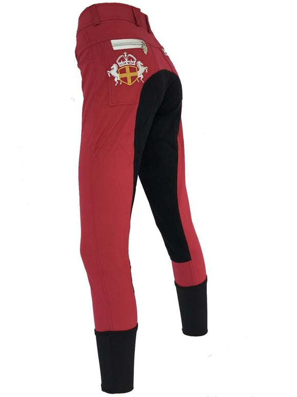 Ladies Full Seat Breeches - Burgundy