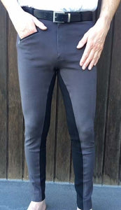 Mens Two-Tone Jodhpurs - Grey/Black