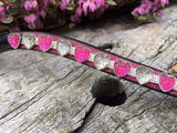 Glitter Heart Browband - Various Colours