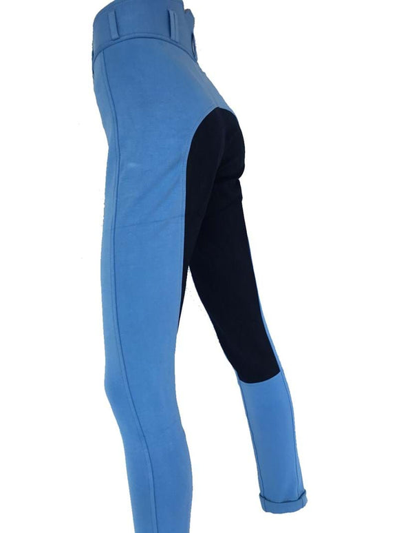 Ladies High Waist Full Seat Jodhpurs - Sky