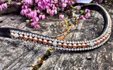 Pearl and Crystal Browband - Various Colours