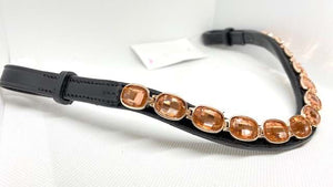 Rose Gold Crystal Browband