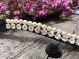 Crystal and Pearl Browband - Various Colours