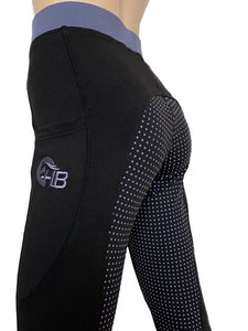 Ladies Full Seat Silicone Riding Tight - Sleek Pockets