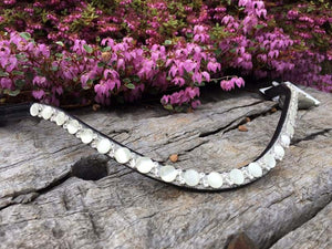 White Crystal Glitter Browband