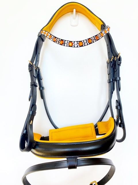 Crank Flash Bling Bridle - Yellow