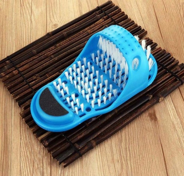Plastic Bath  Shower Brush  Massage Slippers - The Brush Brand