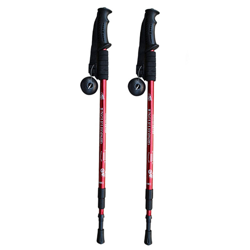 2pcs Trekking poles Walking Sticks Anti Shock Hiking Stick - The Brush Brand