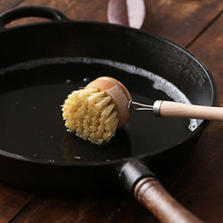 Wooden Long Handle Pot Brush - The Brush Brand