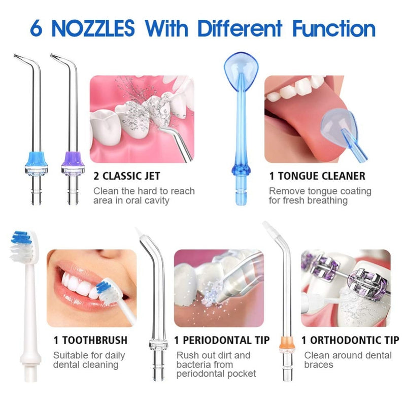 5 Modes Oral Irrigator Water Floss Portable Dental Water Flosser Jet - The Brush Brand